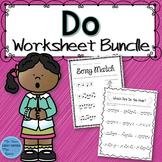 Music Worksheet Bundle: Do