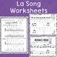 Music Worksheet Bundle: La