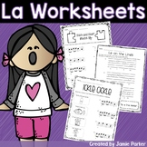 Music Worksheet Bundle: La