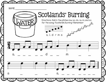Music Worksheet Bundle: Low So