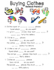 Worksheet Bundle - Buying Clothes - Primary Longman Express 3a, Unit 6