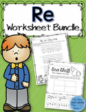 Music Worksheet Bundle: Re