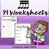 Music Worksheet Bundle: Sixteenth Notes
