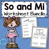 Music Worksheet Bundle: So and Mi