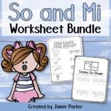 Music Worksheet Bundle: So and Mi