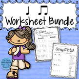 Music Worksheet Bundle: Ta and Ti-Ti