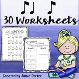 Music Worksheet Bundle: Ti Ta Ti (Syncopa / Syncopation Rhythm)