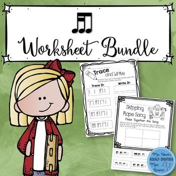 Music Worksheet Bundle: Tika-Ti