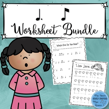 Music Worksheet Bundle: Tom Ti (Dotted Quarter Note / Eighth Note)