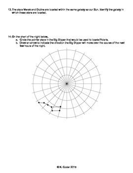 Worksheet - Celestial Observations *Editable*