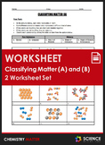 Worksheet - Classifying Matter Through Pictures of Atoms (