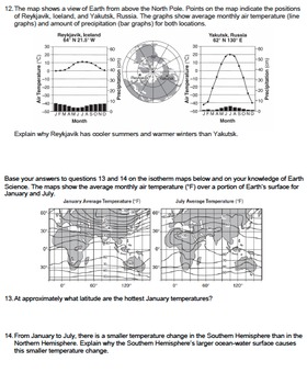 Worksheet - Climate Factor: Distance From a Large Body Of Water CR *EDITABLE*