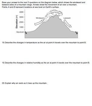 Worksheet - Climate Factor: Mountain Barriers *EDITABLE*