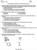 Worksheet - Comparing Asexual and Sexual Reproduction *EDITABLE*