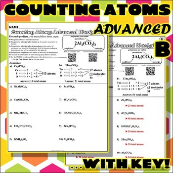 Worksheet: Counting Atoms ADVANCED Version B