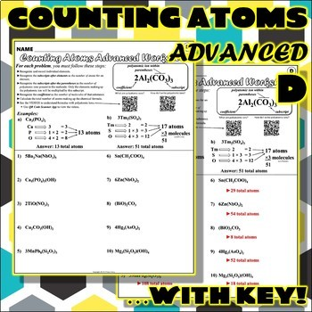 Worksheet: Counting Atoms ADVANCED Version D