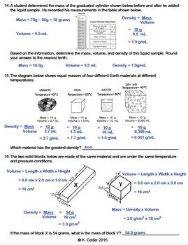Worksheet - Density Calculations (Editable)