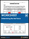 Worksheet - Determining the Net Force, Balanced and Unbala