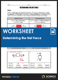 Worksheet - Determining the Net Force, Balanced and Unbala