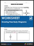 Worksheet - Drawing Free Body or Force Diagrams