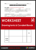 Worksheet - Drawing Ionic & Covalent Bond Diagrams, Part 2