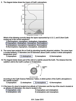 Worksheet - Earth's Shape, Spheres, & Interior (Editable)