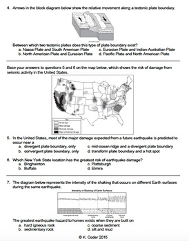 Worksheet - Earthquakes *EDITABLE*
