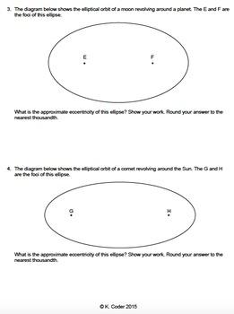 Worksheet - Eccentricity *Editable*