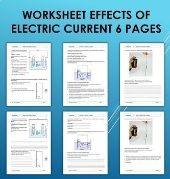 Effects of Electric Current Worksheet