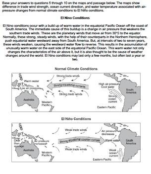 Worksheet - El Nino *EDITABLE*