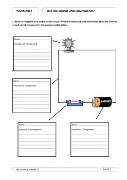 Worksheet - Electric Circuit and Circuit Components