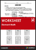 Worksheet - Element Math: Calculating Number of Protons, Neutrons & Electrons