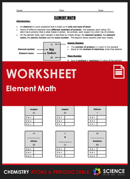 Worksheet element math calculating number of protons neutrons worksheet element math calculating number of protons neutrons electrons urtaz Gallery