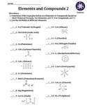 Worksheet: Elements and Compounds 2
