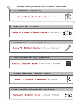 Worksheet - Energy Transfer Diagrams by Science With Mr Enns   TpT