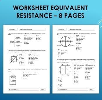 Worksheet - Equivalent Resistance