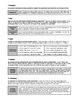 Worksheet - Experimental Design: Parts of an Experiment