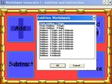 Worksheet Generator - Addition and Subtraction