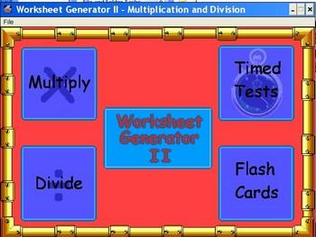 Worksheet Generator - Multiply and Divide