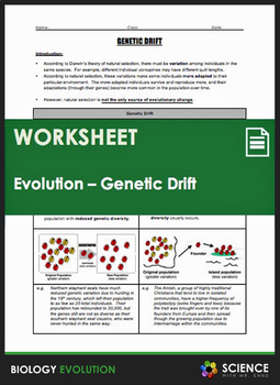 Evolution - Genetic Drift, Bottleneck Effect, and the Founder Effect