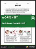 Worksheet - Evolution - Genetic Drift, Bottleneck & Founde