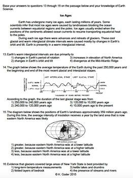 Worksheet - Glacier Erosion and Deposition *Editable*