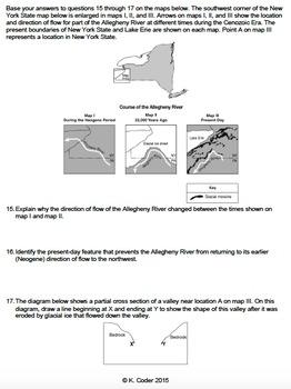 worksheet glaciers in new york state editable tpt. Black Bedroom Furniture Sets. Home Design Ideas