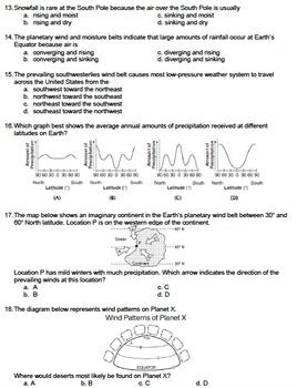 Worksheet - Global Wind Patterns *EDITABLE*