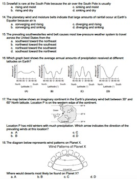 Worksheet - Global Wind Patterns *EDITABLE*