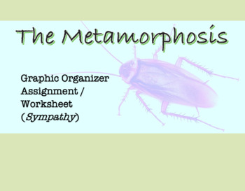 Worksheet / Graphic Organizer for The Metamorphosis ; Textual Evidence, sympathy
