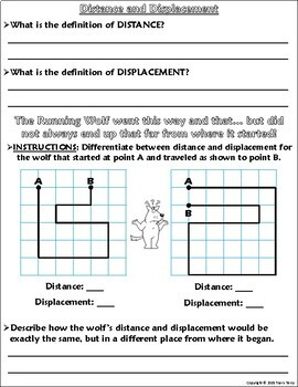 Worksheet Graphing Distance And Displacement W The Running Wolf