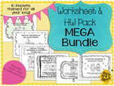 Worksheet & HW MEGA Bundle for Speech Therapy