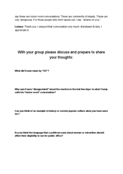Worksheet, Handout and Questions on CNN Interview on Selective Outrage on race