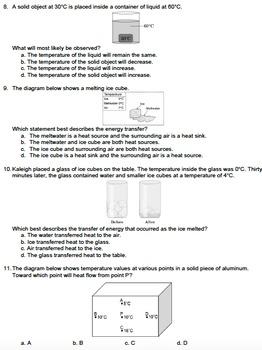 Worksheet - Heat Source, Heat Sink, & Heat Flow *Editable*